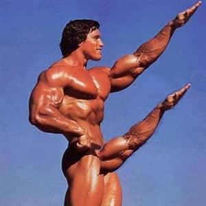arnold flexing arm for penis