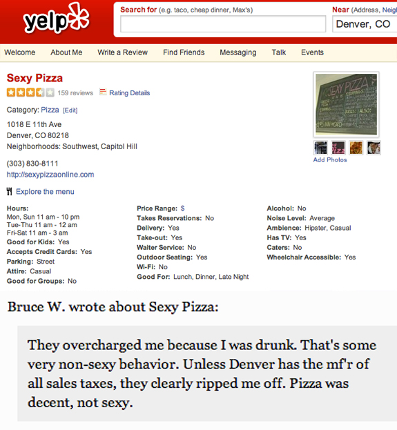 yelp pizza review
