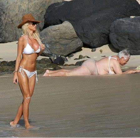 celebrities at the beach