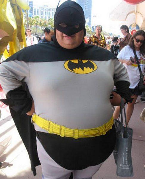 spandex Fat guys wearing