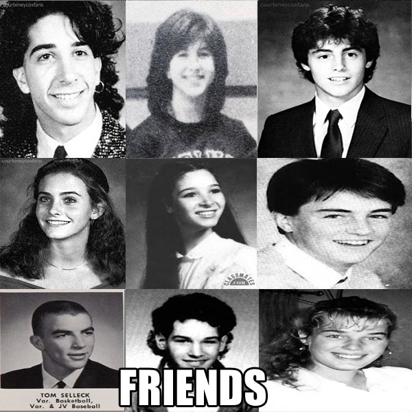 freinds cast yearbook