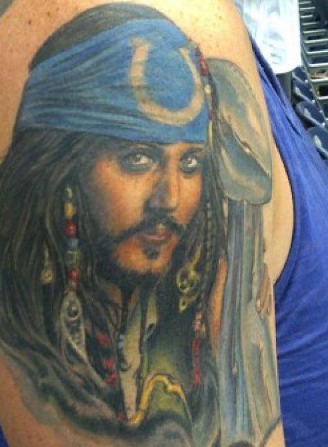 colts fan tattoo