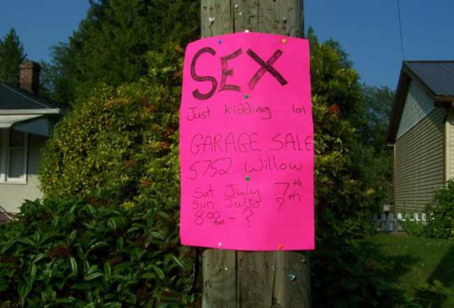 The 20 Funniest Garage Sale Signs Ever Gallery