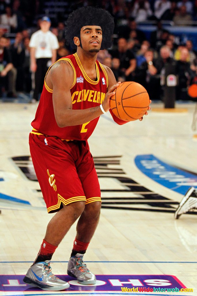 kyrie irving afro