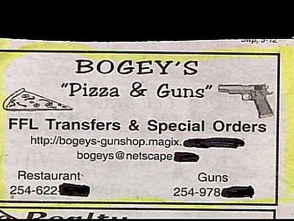 pizza and guns