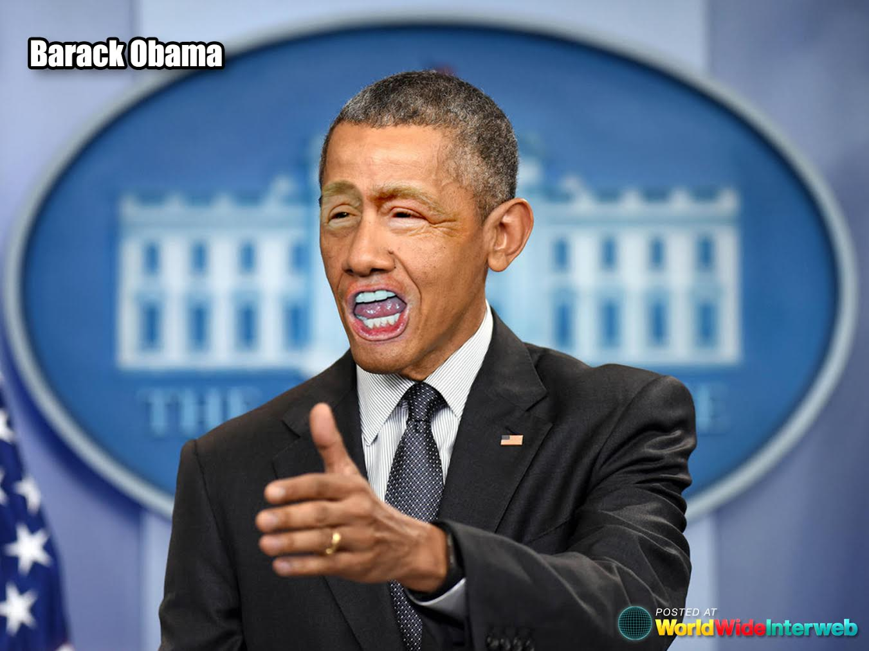 barack obama trump eyes mouth