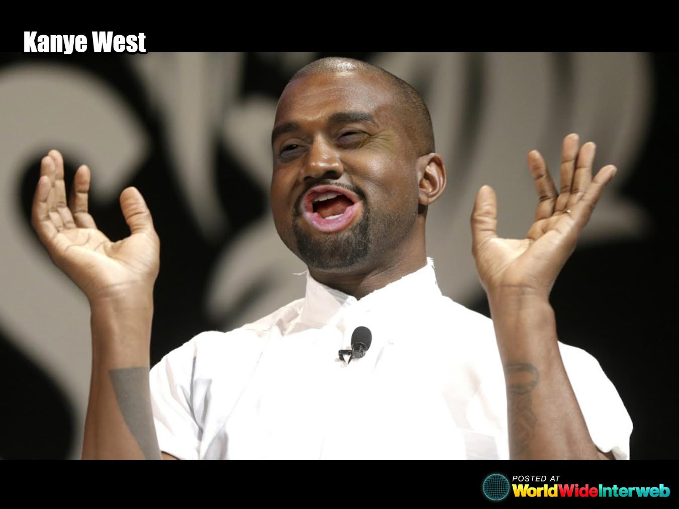 kanye west trump eyes mouth