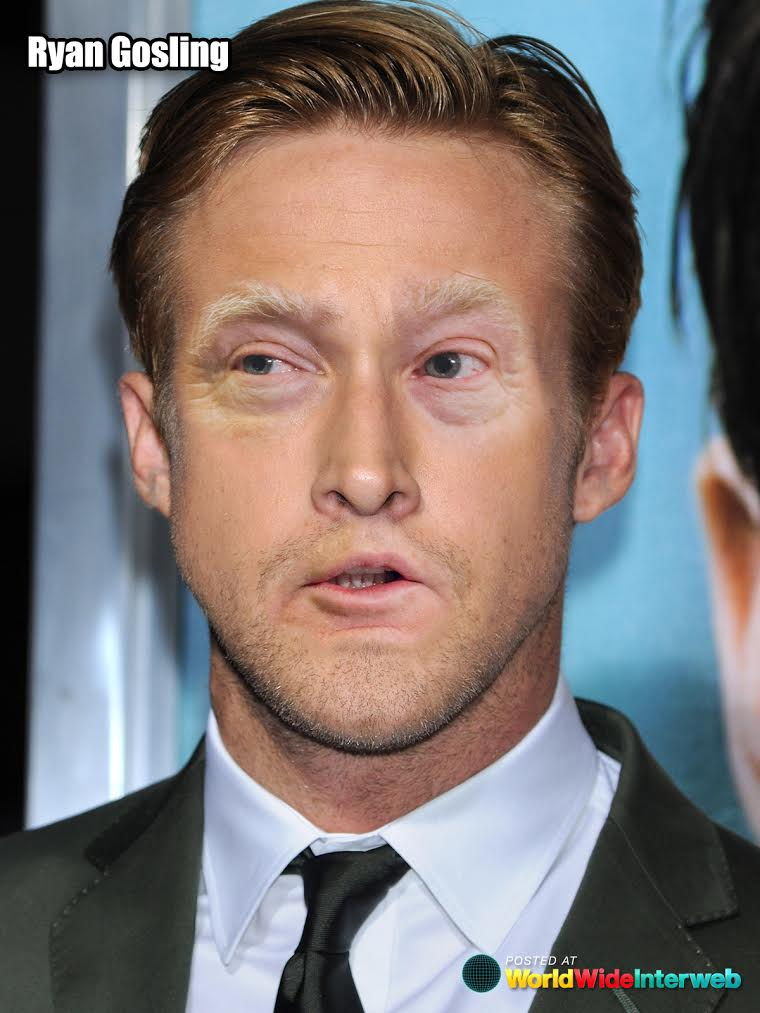 ryan gosling trump eyes mouth