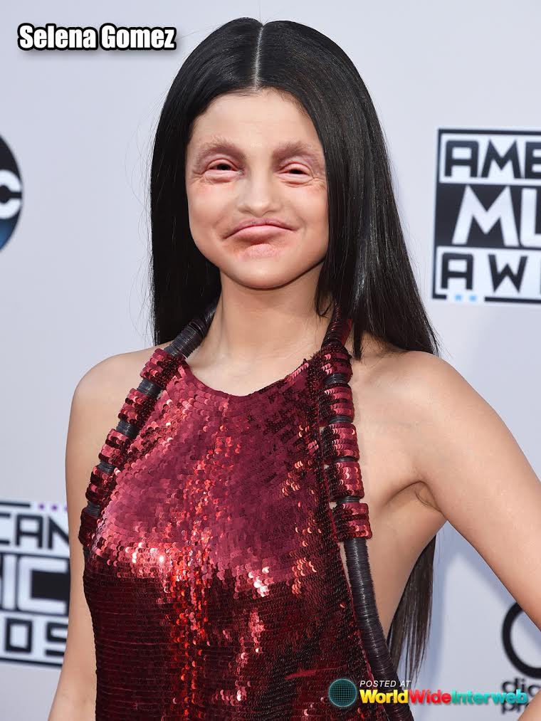 selena gomez trump eyes mouth