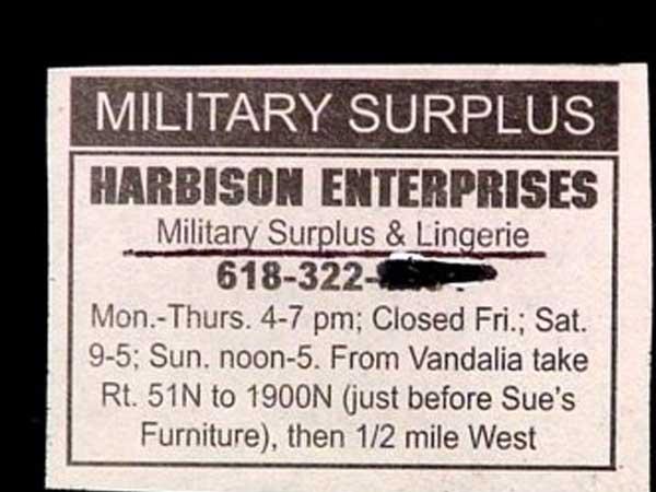military lingerie