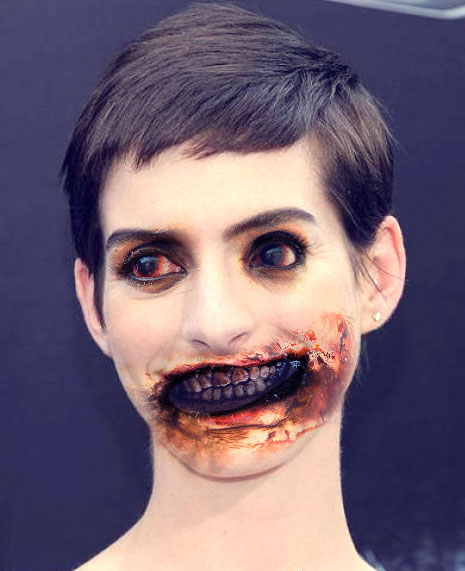 Anne Hathaway Comedy: Celebrities As Zombies (20 PICTURES)
