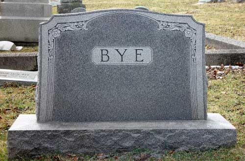 bye tombstone