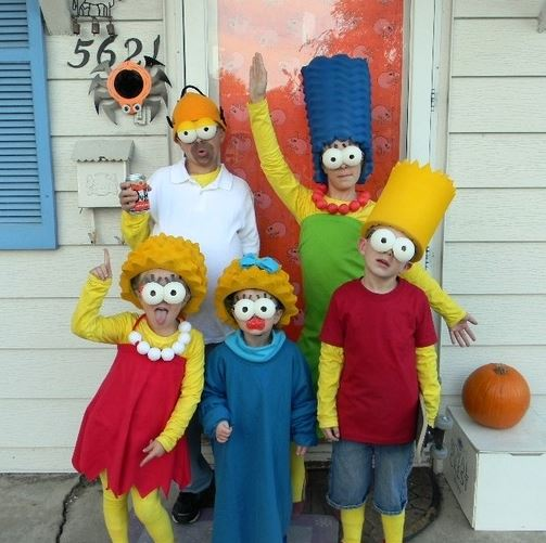 simpsons family costume