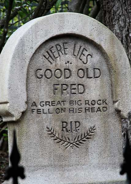 clever grave stone