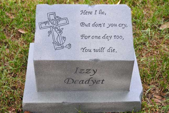 witty tombstone sayings