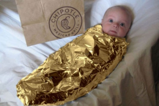baby chipotle halloween costume