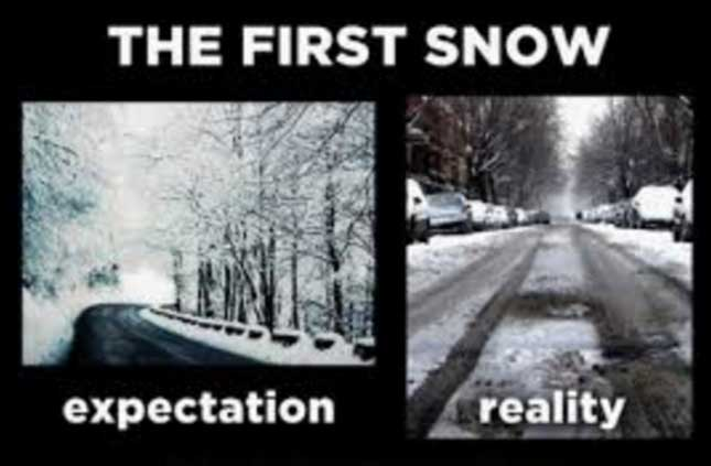 first snow memes
