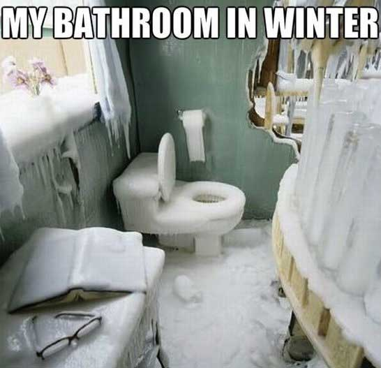 bathroom winter