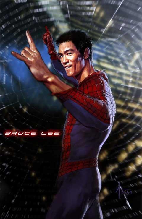 bruce-lee-spiderman