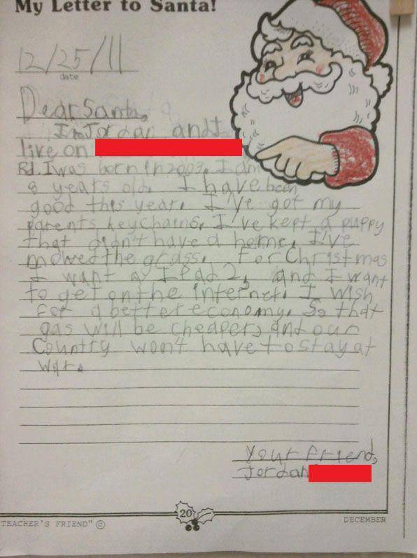Funny Kids Letters To Santa Claus Gallery