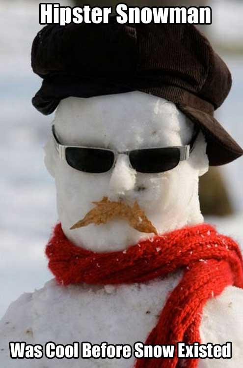 hipster-snowman