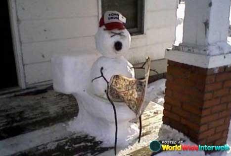 redneck-snowman