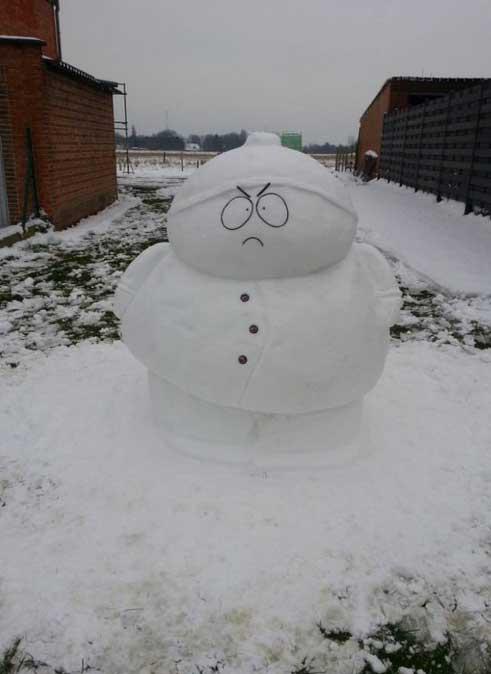 cartman-snowman