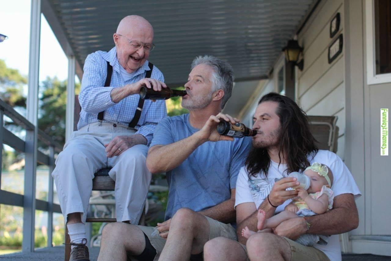 dads feeding babies