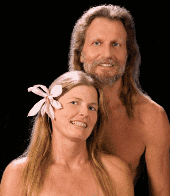 scary couple portrait