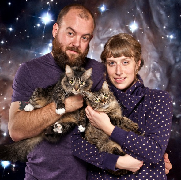 cat couple portraits