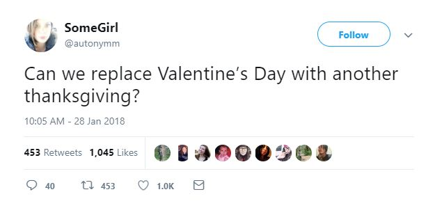 Valentine's Day Tweets