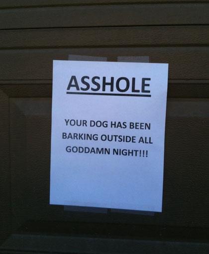 neighbor-dog-note