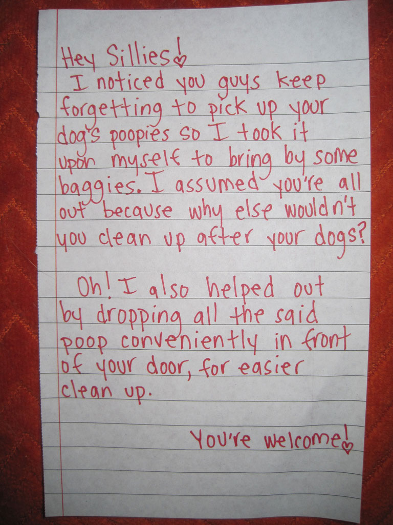 The 50 Funniest Neighbor Notes Ever GALLERY WorldWideInterweb