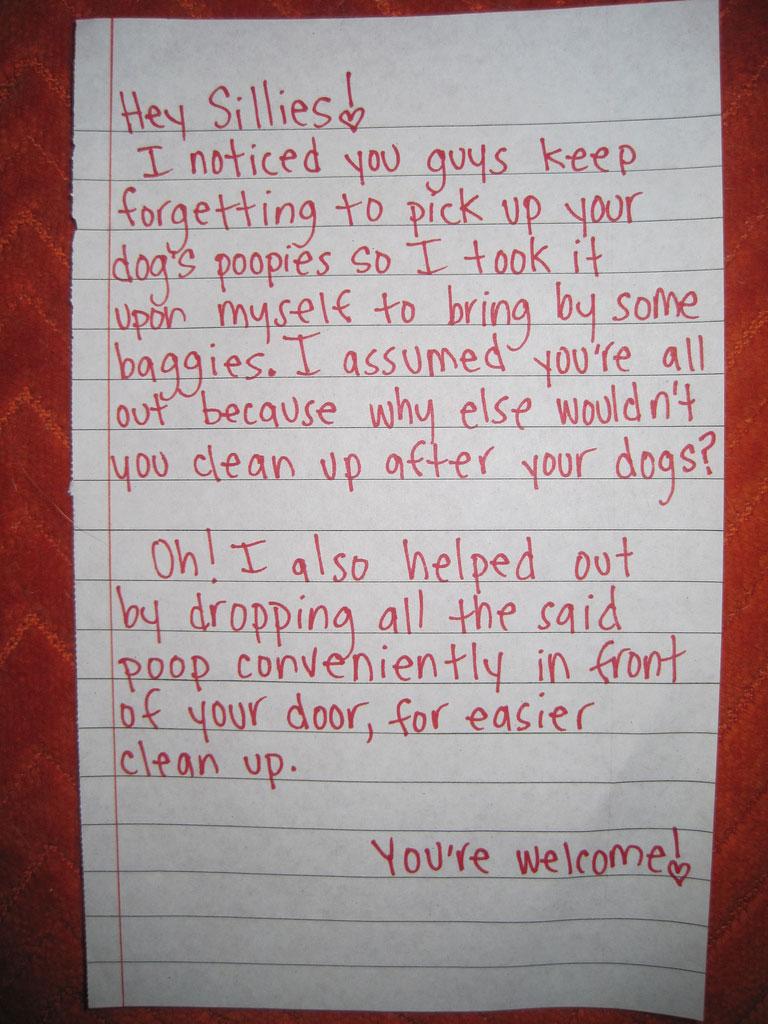 neighbor-note-dog