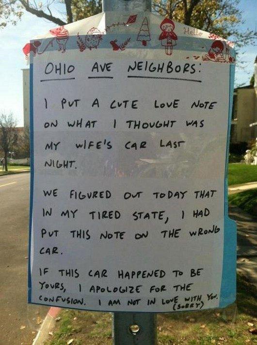 The 50 funniest neighbor notes ever gallery worldwideinterweb passive aggressive notes spiritdancerdesigns Gallery