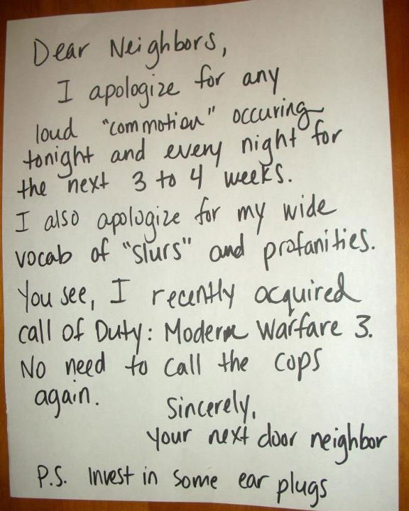 What to do when your upstairs neighbors are loud
