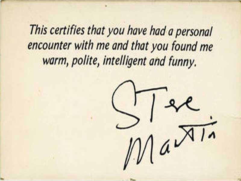 Celebrities have business cards too gallery worldwideinterweb steve martin business card colourmoves