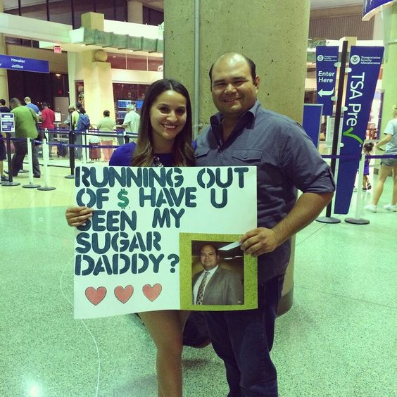 The funniest airport pickup signs ever gallery for Sugar daddy jokes
