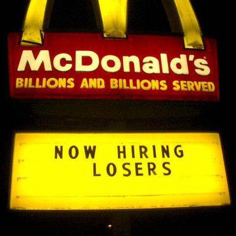 fast food sign fails