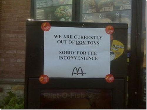 mcdonalds funniest signs