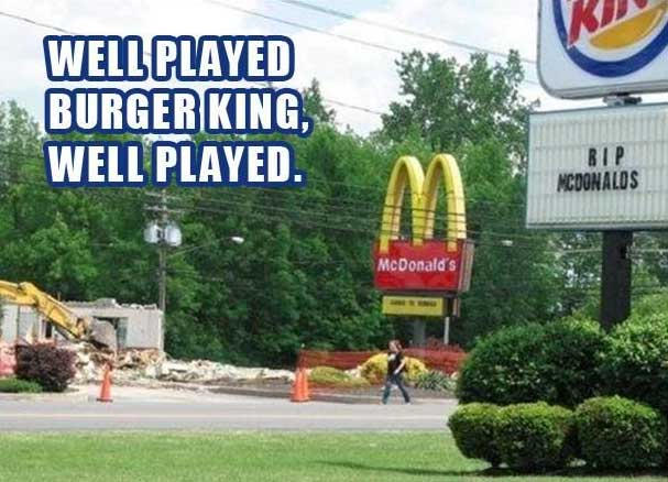 burger king mcdonalds sign, funny fast food restaurant signs
