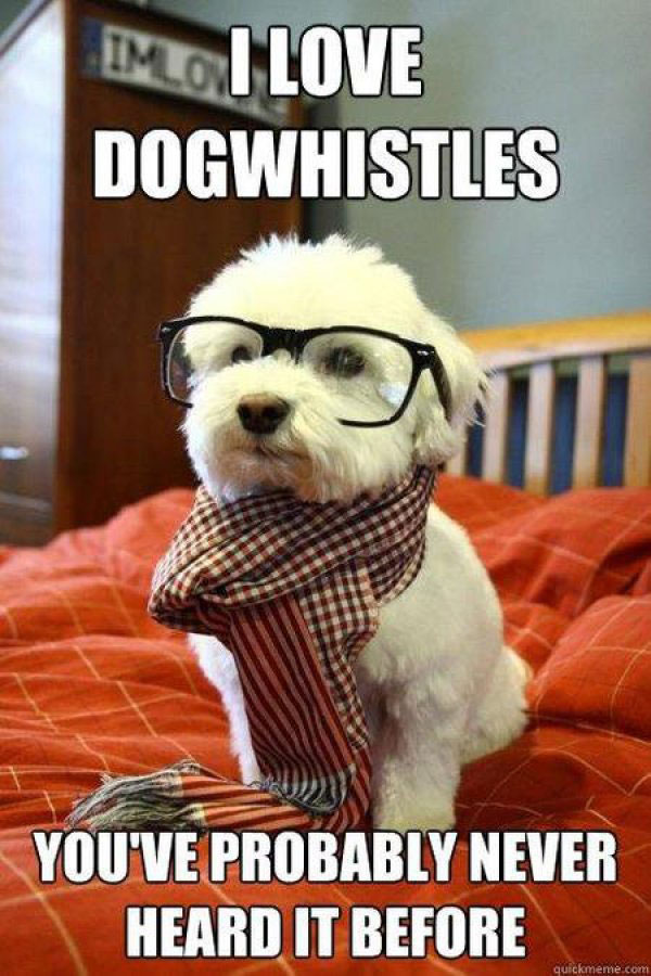 dog whistles dog meme