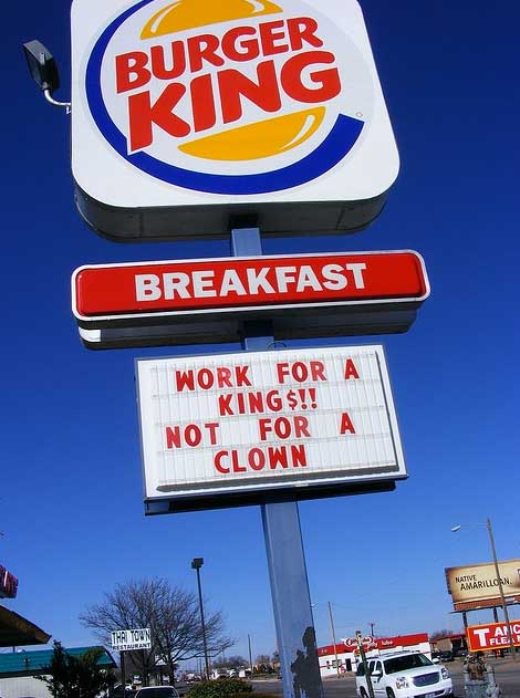 burger king signs