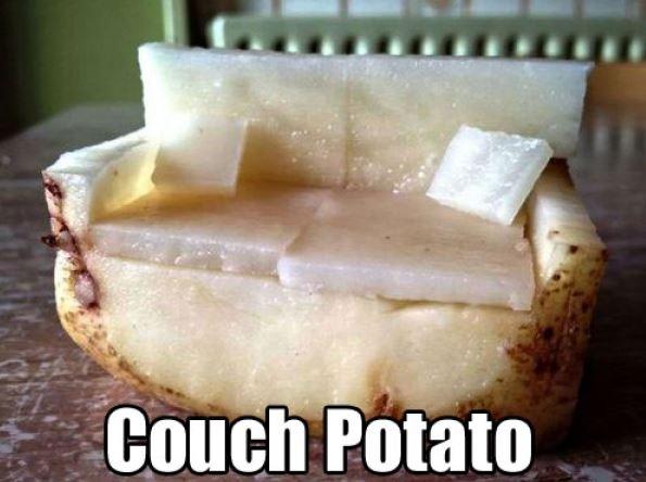 couch potato pun