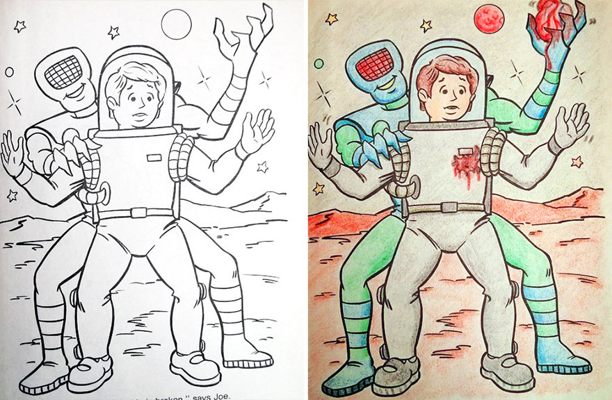 When Coloring Books Get Attacked by Adults (GALLERY)