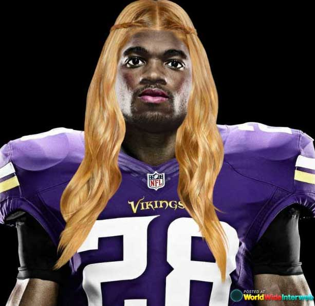 adrian peterson makeover