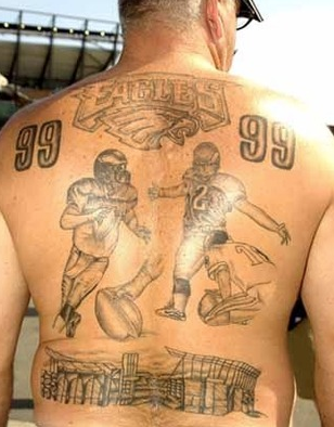 eagles fan tattoo