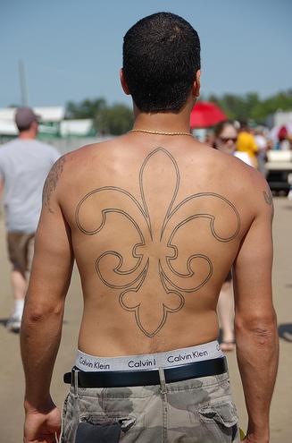 saints fan tattoo