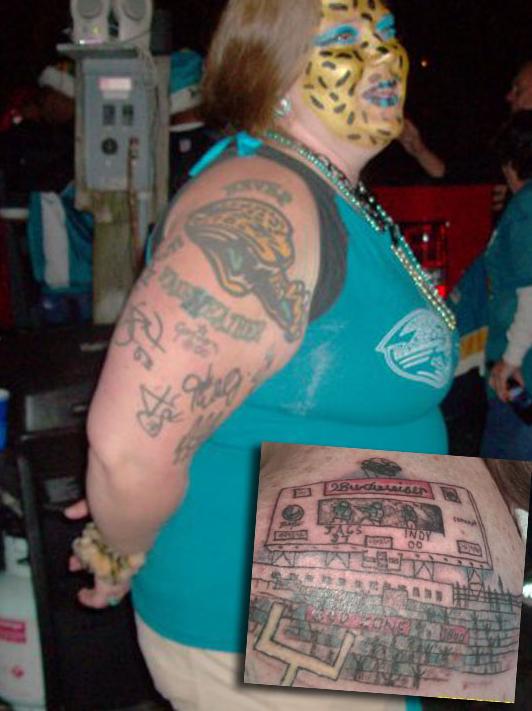 jaguars fan tattoos