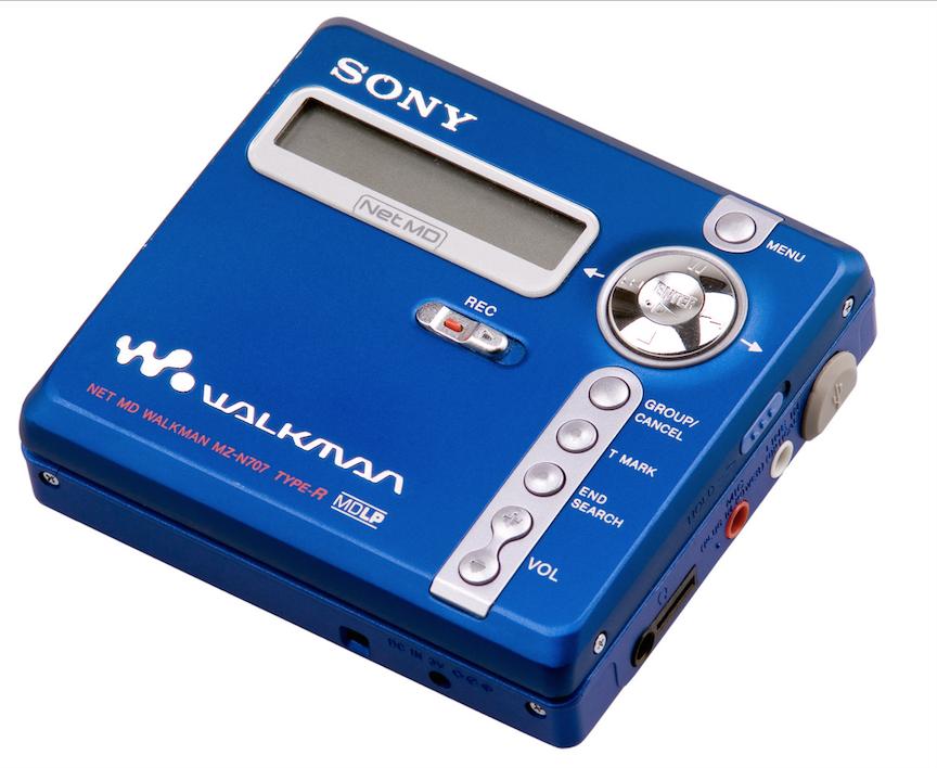 mini disk player sony